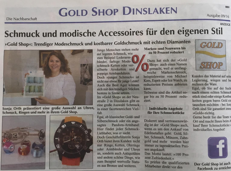 The gold shop online